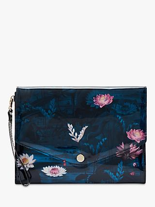 Ted Baker Elzina Wonderland Pouch Clutch Bag, Teal