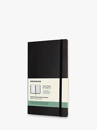 Moleskine A5 Soft Cover Weekly Diary Notebook 2020, Black