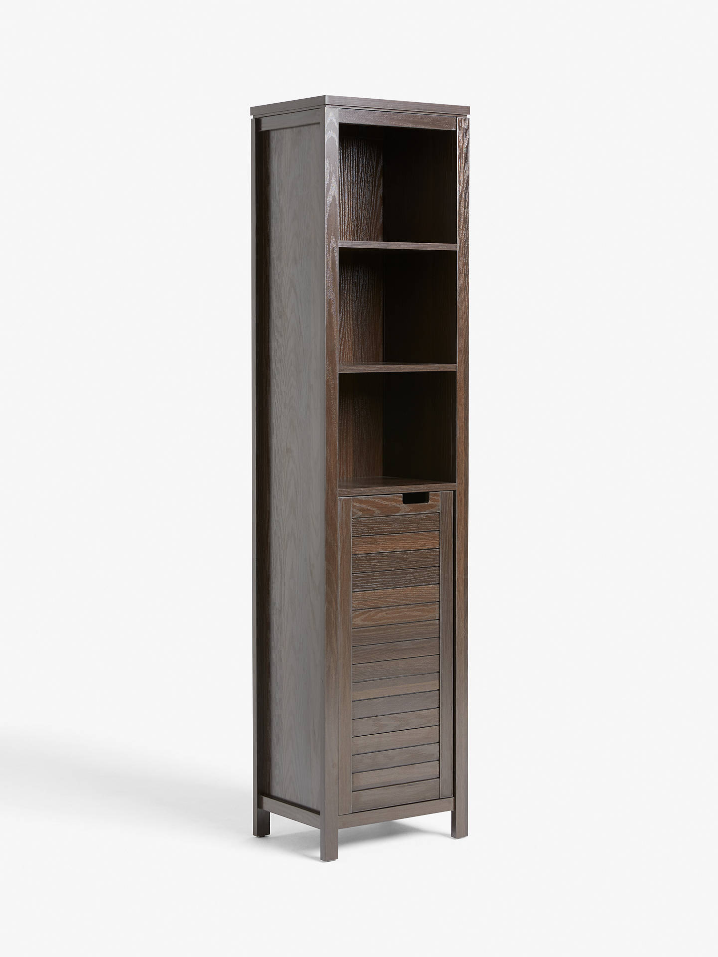 John Lewis & Partners Bali Tallboy Bathroom Cabinet, Brown