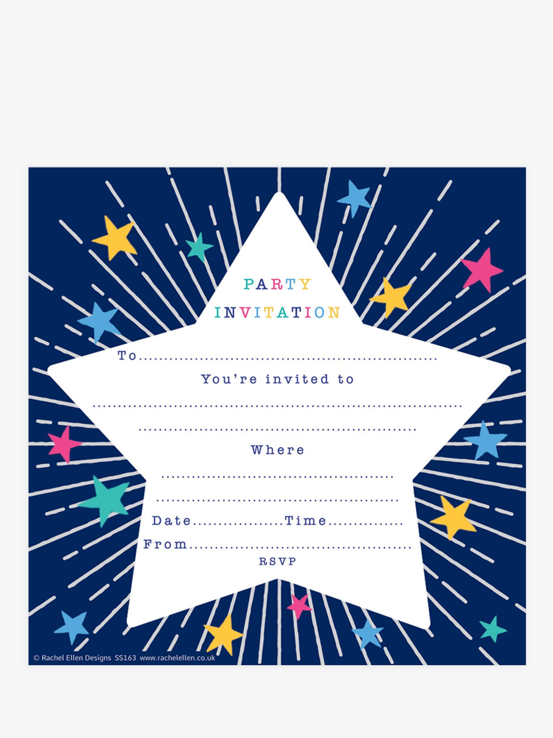 Rachel Ellen Rachel Ellen Starburst Party Invitations, Pack of 8