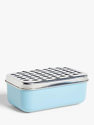 House by John Lewis Container Grater, Blue