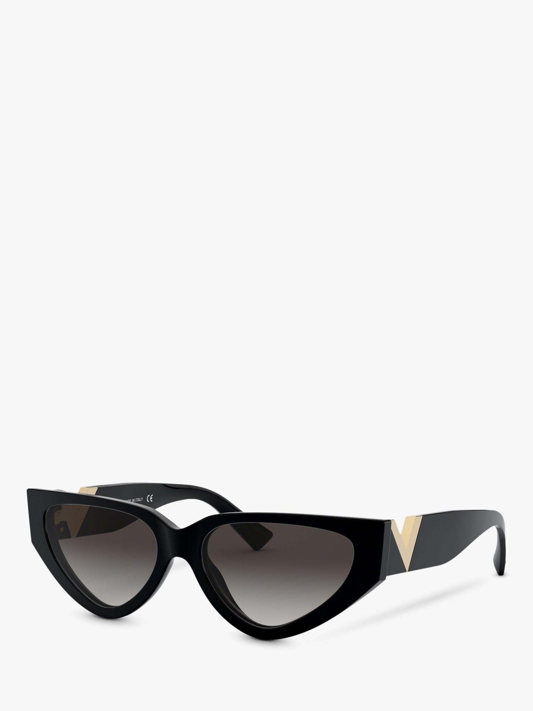 Valentino Valentino VA4063 Women's Irregular Cat's Eye Sunglasses, Black/Grey Gradient