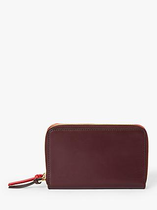 John Lewis & Partners Kaya Leather Double Zip Purse