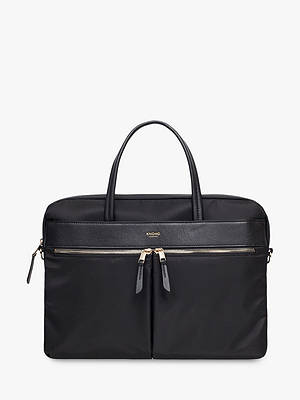 "Buy KNOMO Hanover 14"" Laptop Briefcase, Black Online at johnlewis.com"