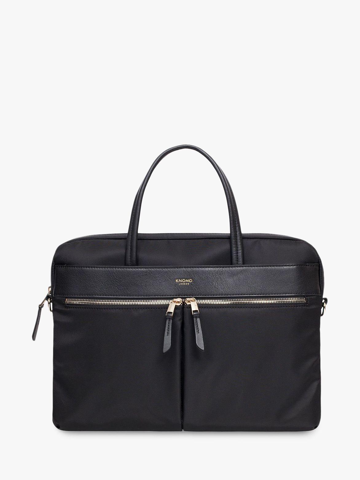 "Knomo KNOMO Hanover 14"" Laptop Briefcase, Black"