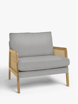 John Lewis & Partners Cane Accent Armchair, Light Leg, Marylamb Storm