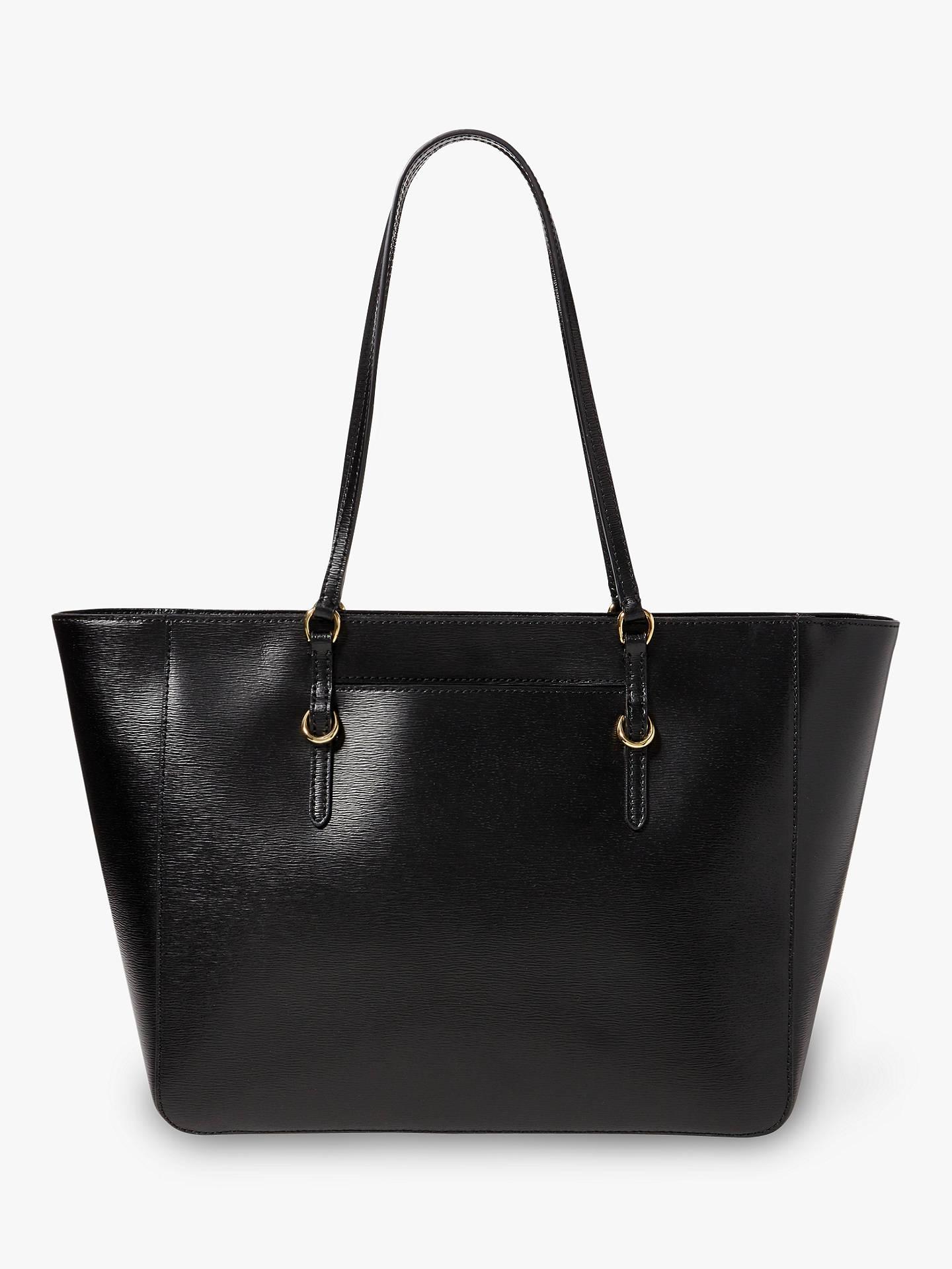ed9c957a Lauren Ralph Lauren Chadwick Leather Tote Bag, Black