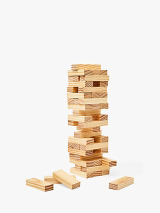 John Lewis & Partners Wooden Topple Blocks Game