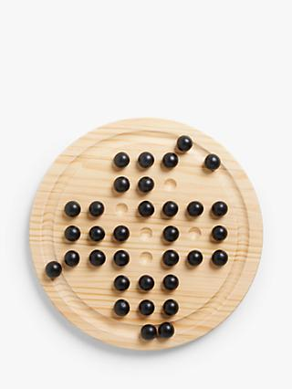 John Lewis & Partners Wooden Solitaire Game