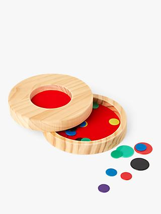 John Lewis & Partners Wooden Tiddlywinks Game