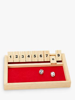 John Lewis & Partners Wooden Shut The Box Game