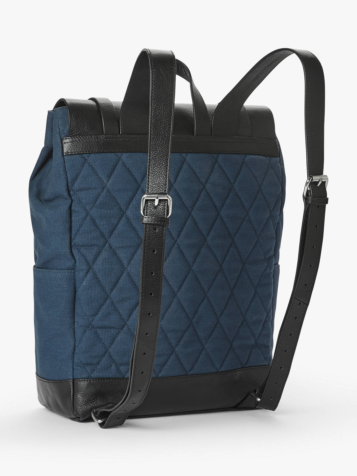Buy John Lewis & Partners Dublin Cotton Canvas Backpack, Navy Online at johnlewis.com