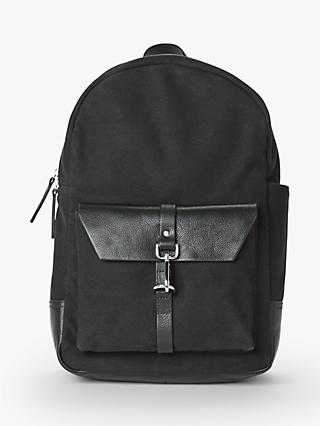 John Lewis & Partners Dublin Cotton Canvas Backpack
