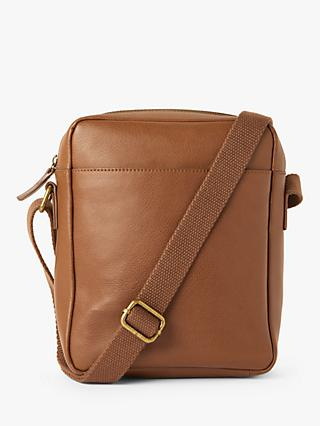 John Lewis & Partners Turin Leather Reporter Bag