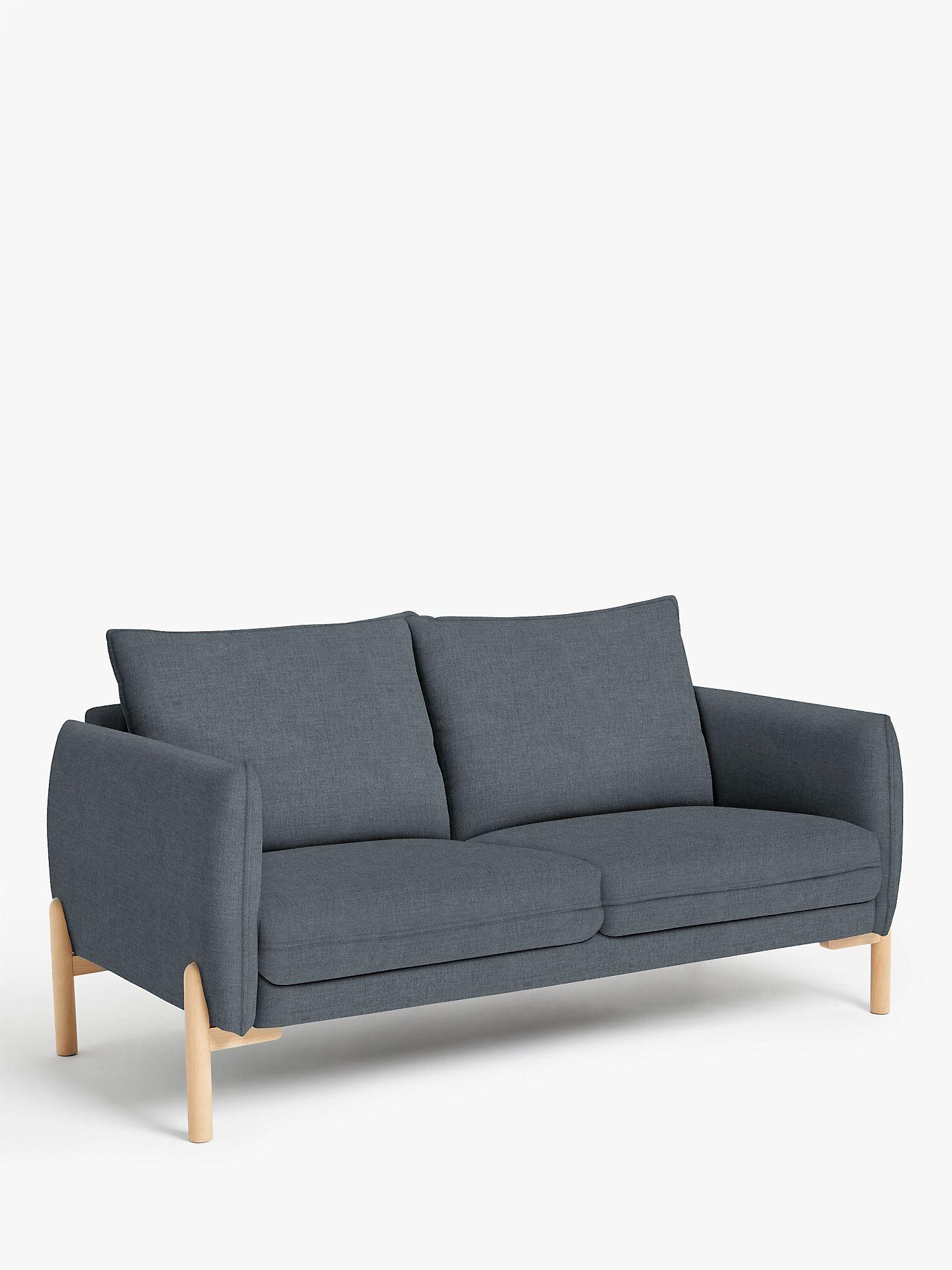 John Lewis Partners Pillow Medium 2 Seater Sofa Light Leg Hatton Steel At John Lewis Partners