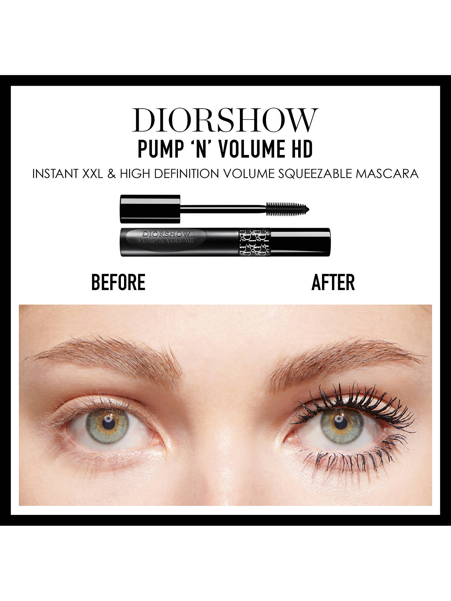 085a7332ce1 ... Buy Dior Diorshow Pump 'N' Volume HD Mascara, 090 Black Online at  johnlewis ...