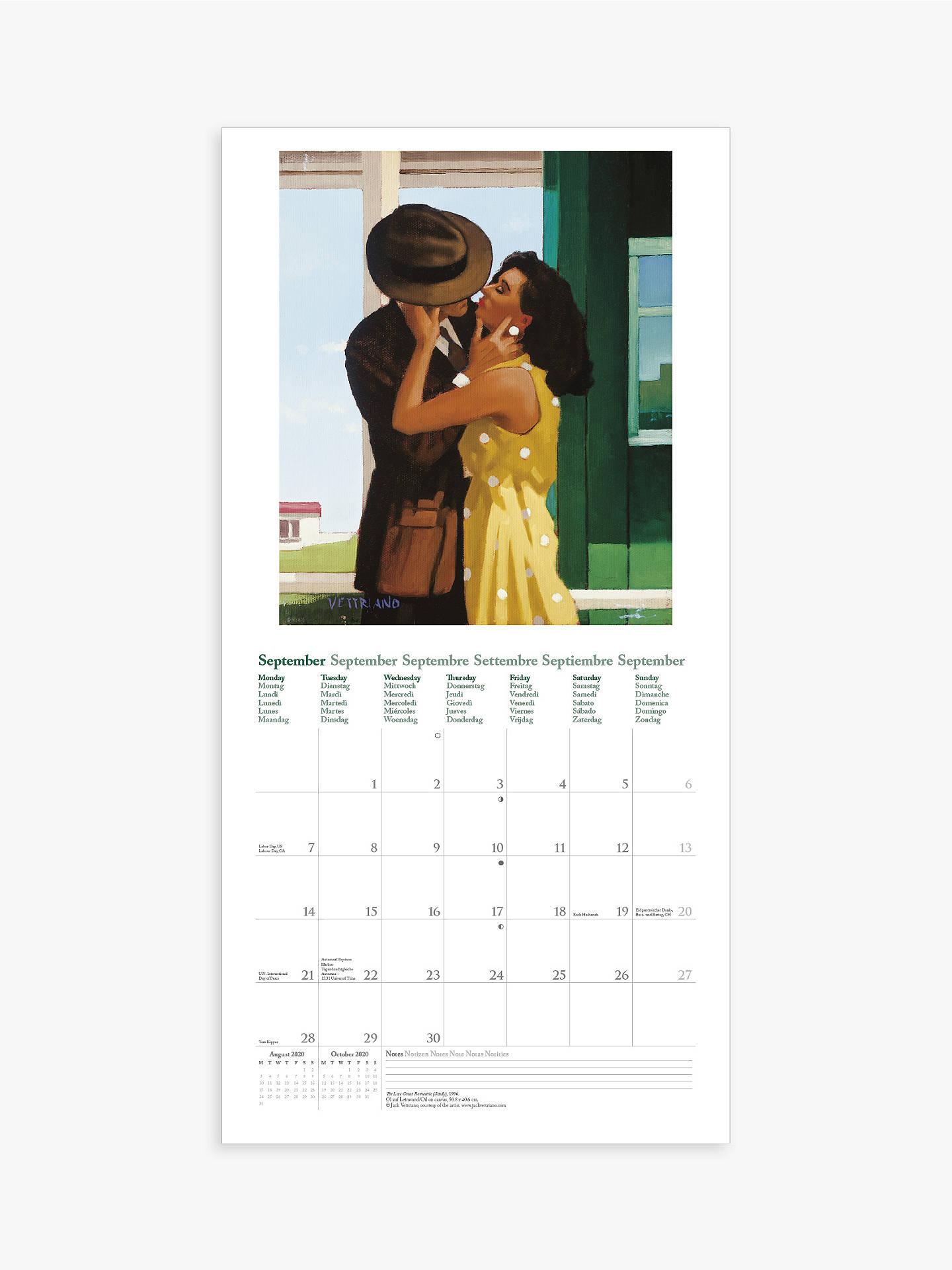 Calendrier 2020 Side Car Cross.Teneues Jack Vettriano Square Calendar 2020