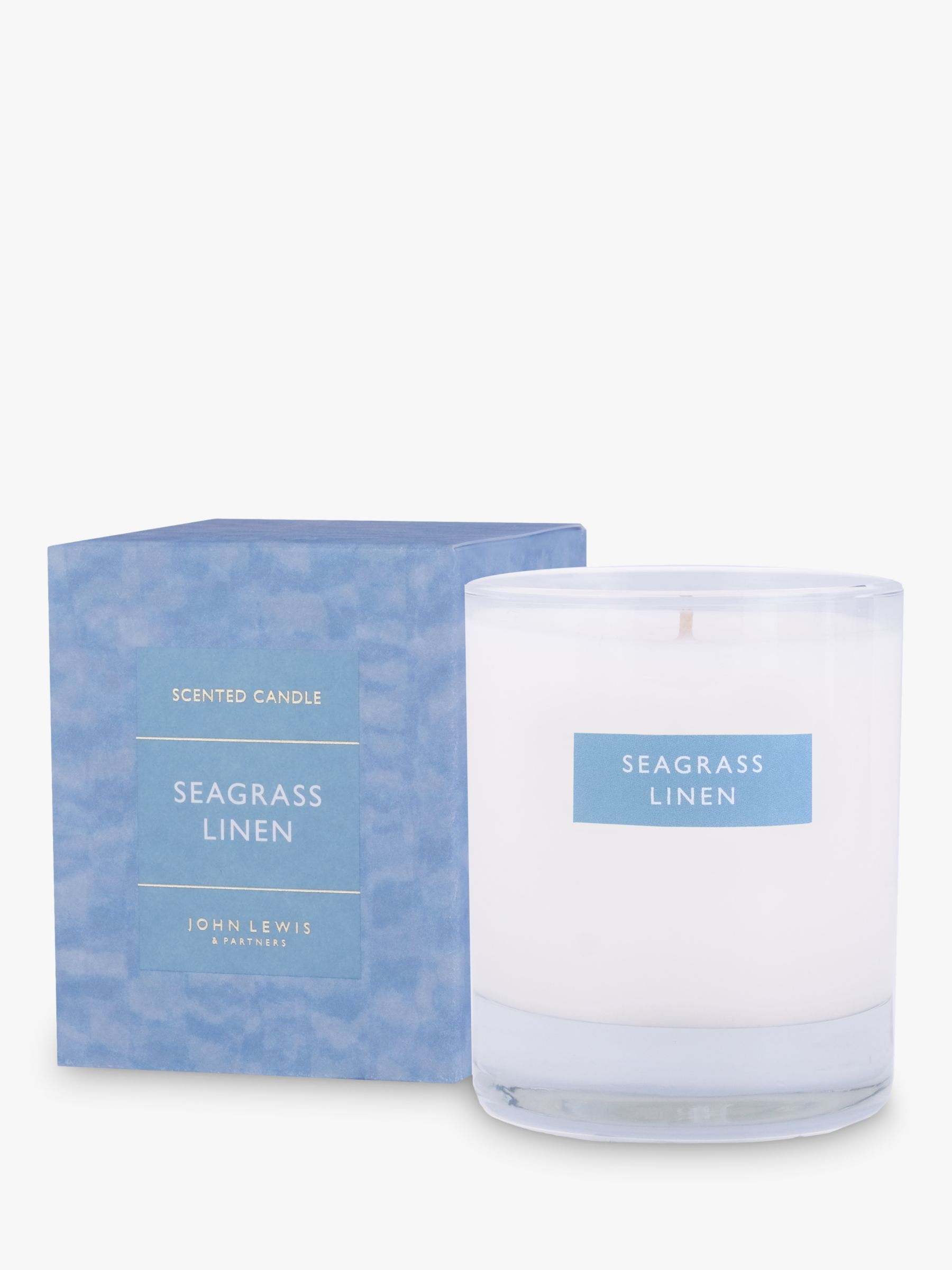 Buy John Lewis & Partners Seagrass Linen Scented Candle, 180g Online at www.retrievedmagnetic.com