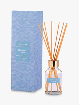 John Lewis & Partners Seagrass Linen Reed Diffuser, 100ml
