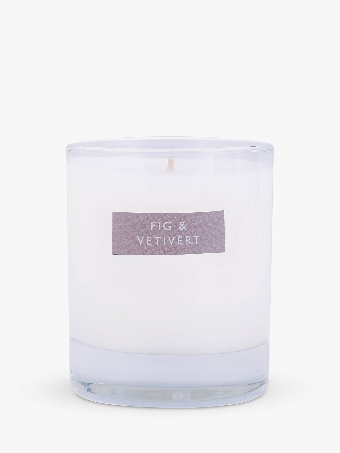 Buy John Lewis & Partners Fig & Vetivert Scented Candle, 180g Online at johnlewis.com