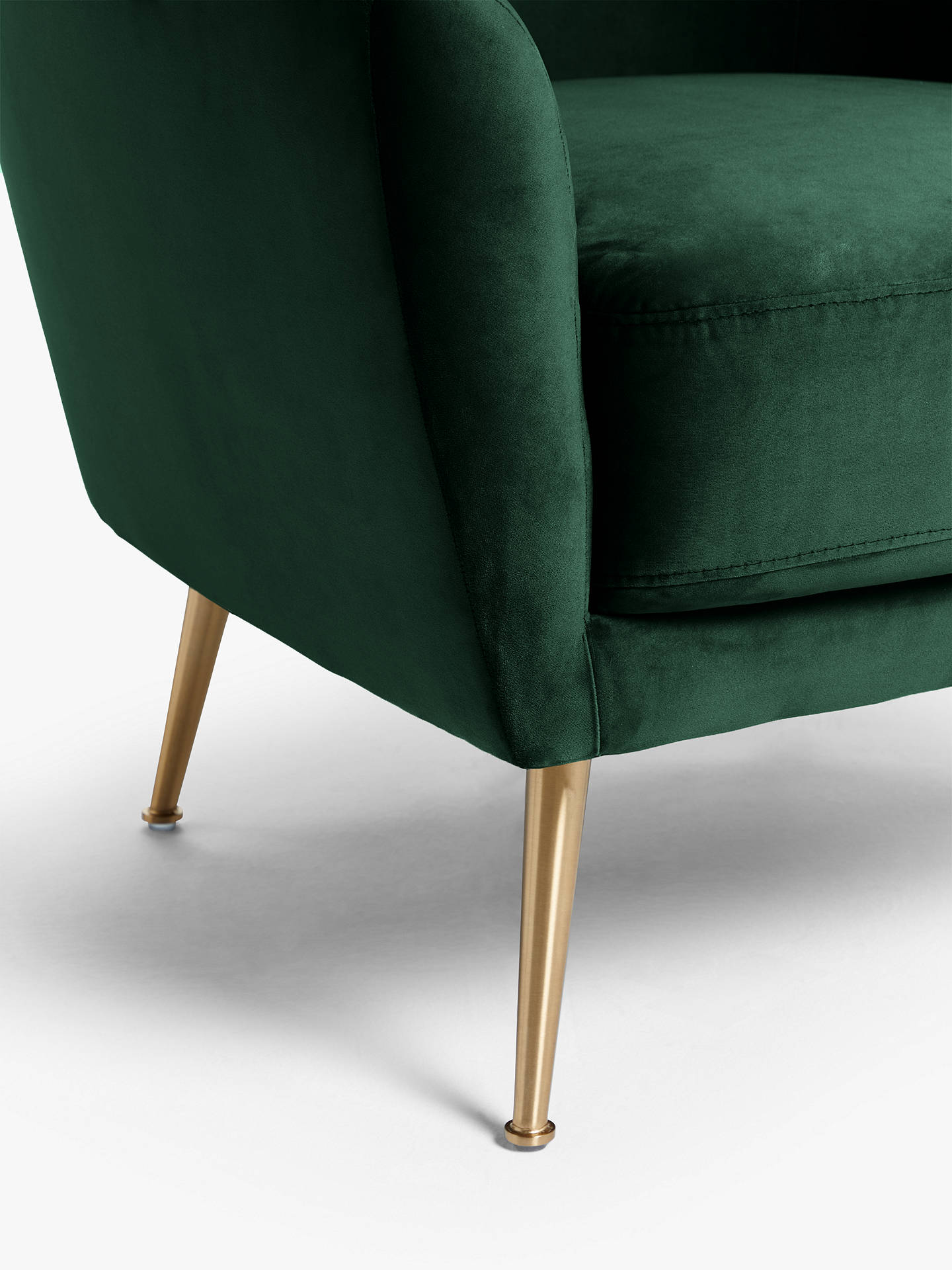 Buy John Lewis & Partners Ellipse Velvet Armchair, Opulence Bottle Green Online at johnlewis.com
