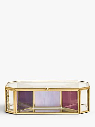 John Lewis & Partners Glass Geometric Jewellery Box
