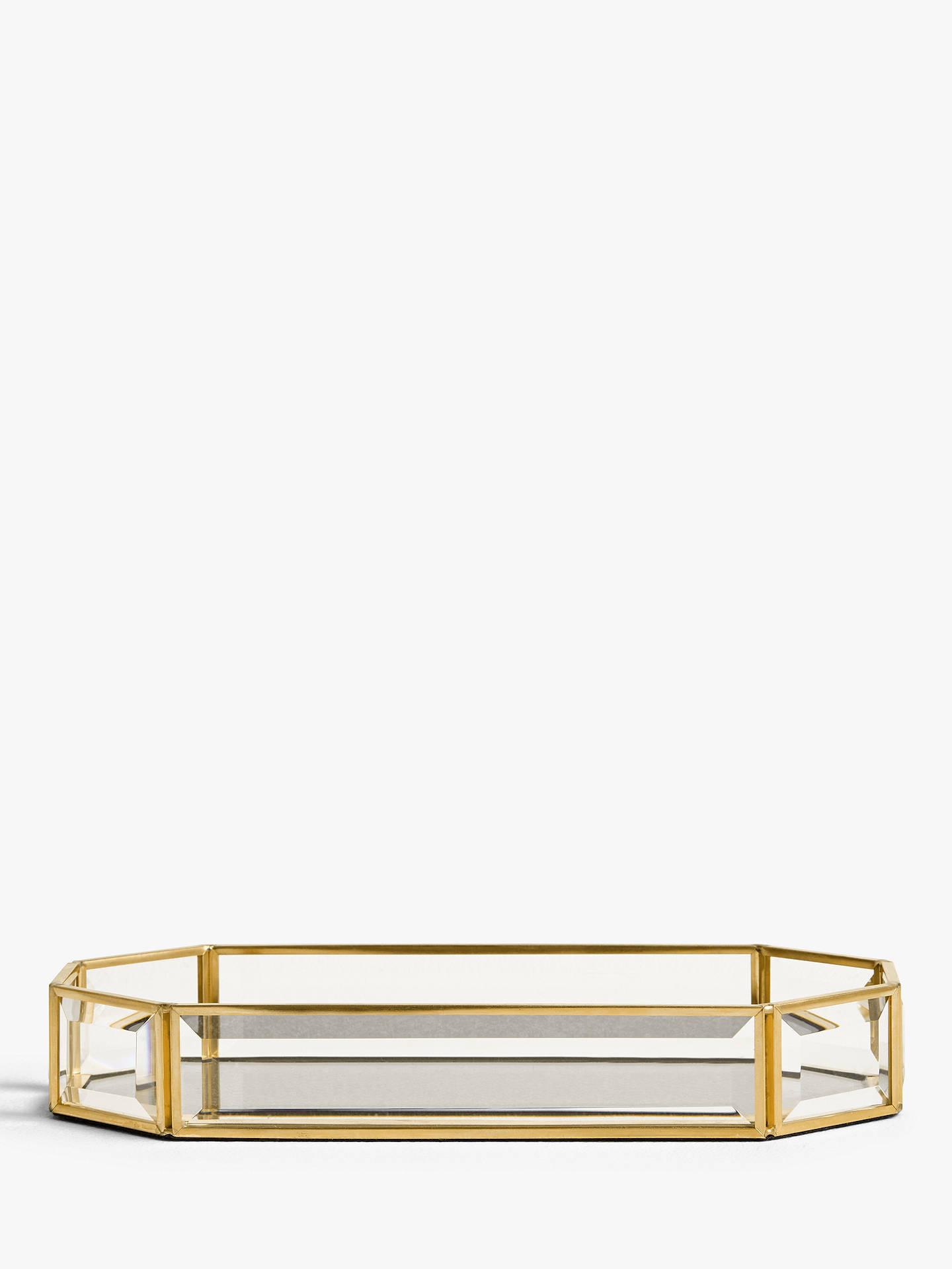 John Lewis & Partners Lozenge Glitter Decorative Tray by John Lewis & Partners