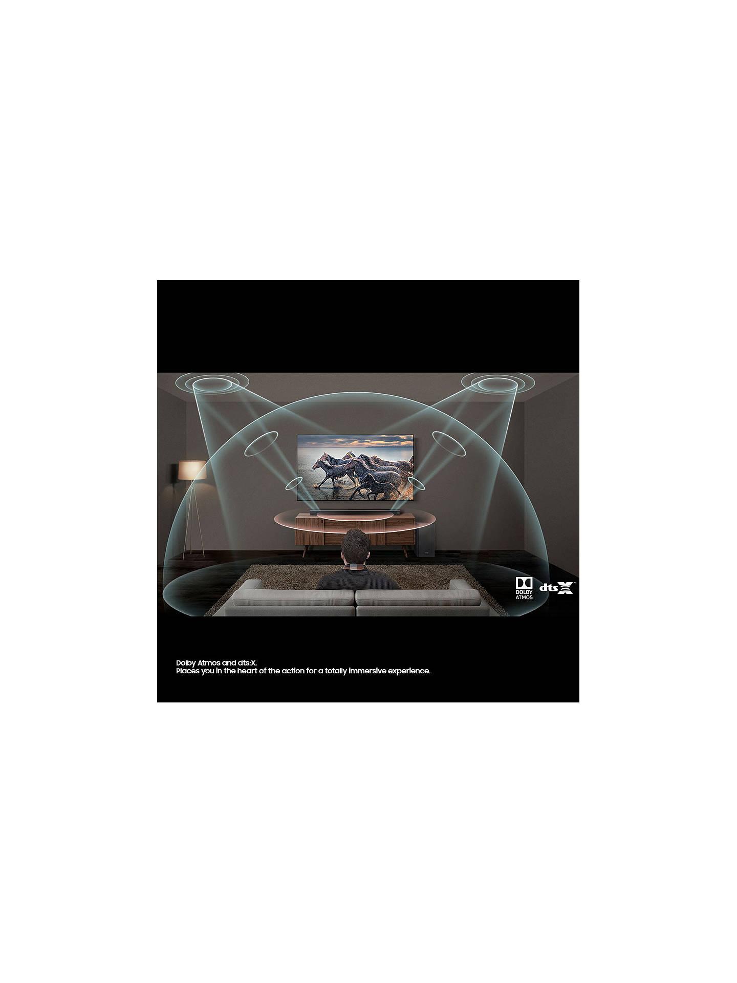 Samsung harman/kardon HW-Q70R Bluetooth Wi-Fi Cinematic Sound Bar with  Dolby Atmos & Wireless Subwoofer