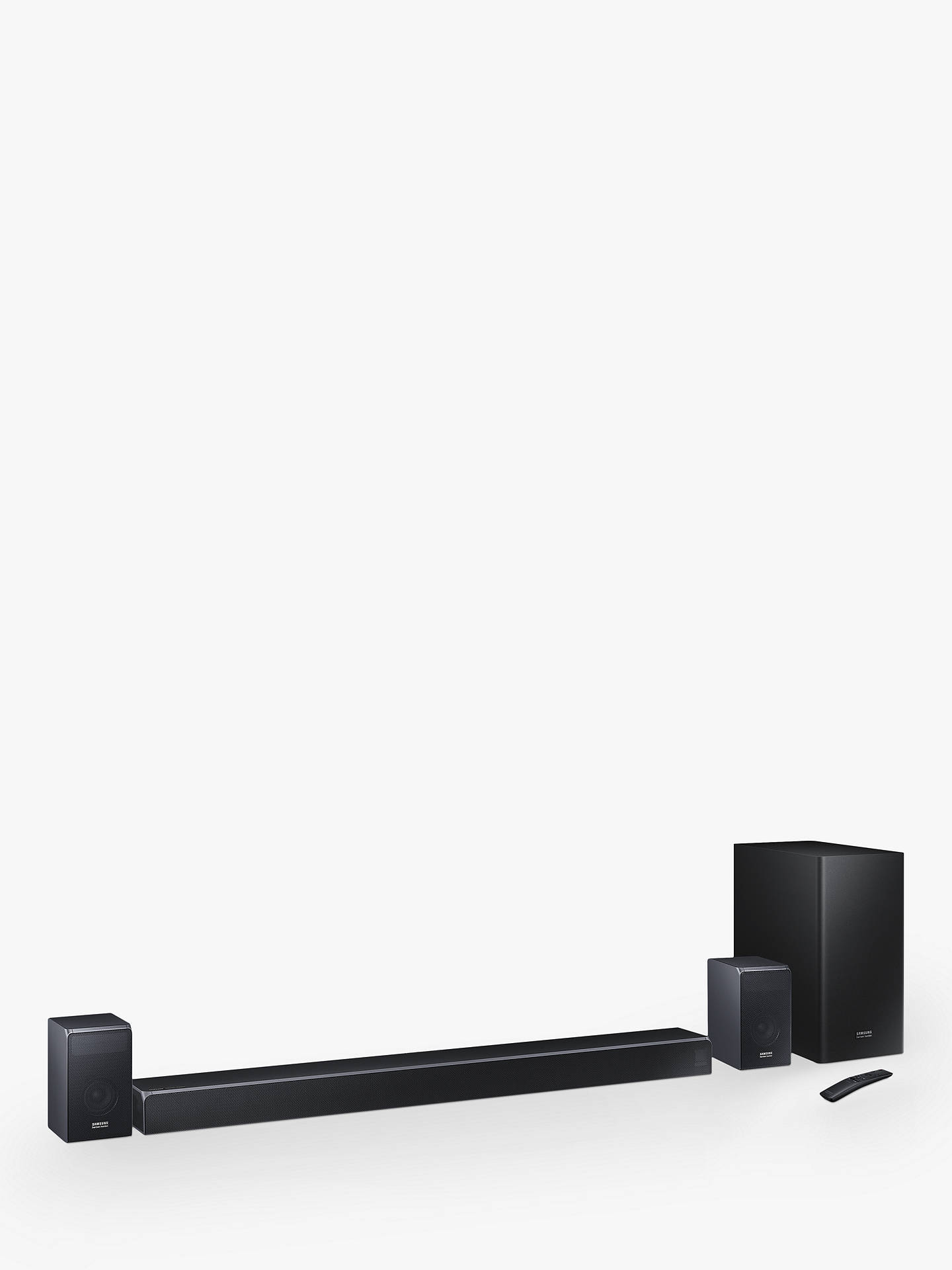 Samsung harman/kardon HW-Q90R Bluetooth Wi-Fi Cinematic Sound Bar with  Dolby Atmos, Wireless Subwoofer & Rear Surround Speakers