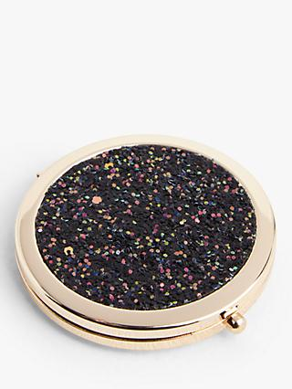 John Lewis & Partners Glitter Compact Mirror