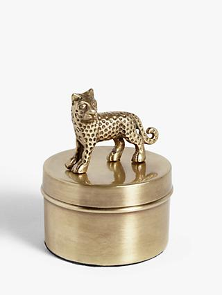 John Lewis & Partners Leopard Decorative Box