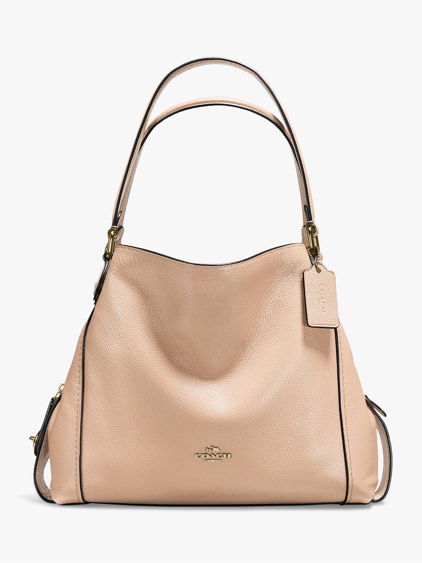 22b61d26f7f64 Coach Edie 31 Polished Pebble Leather Shoulder Bag at John Lewis ...