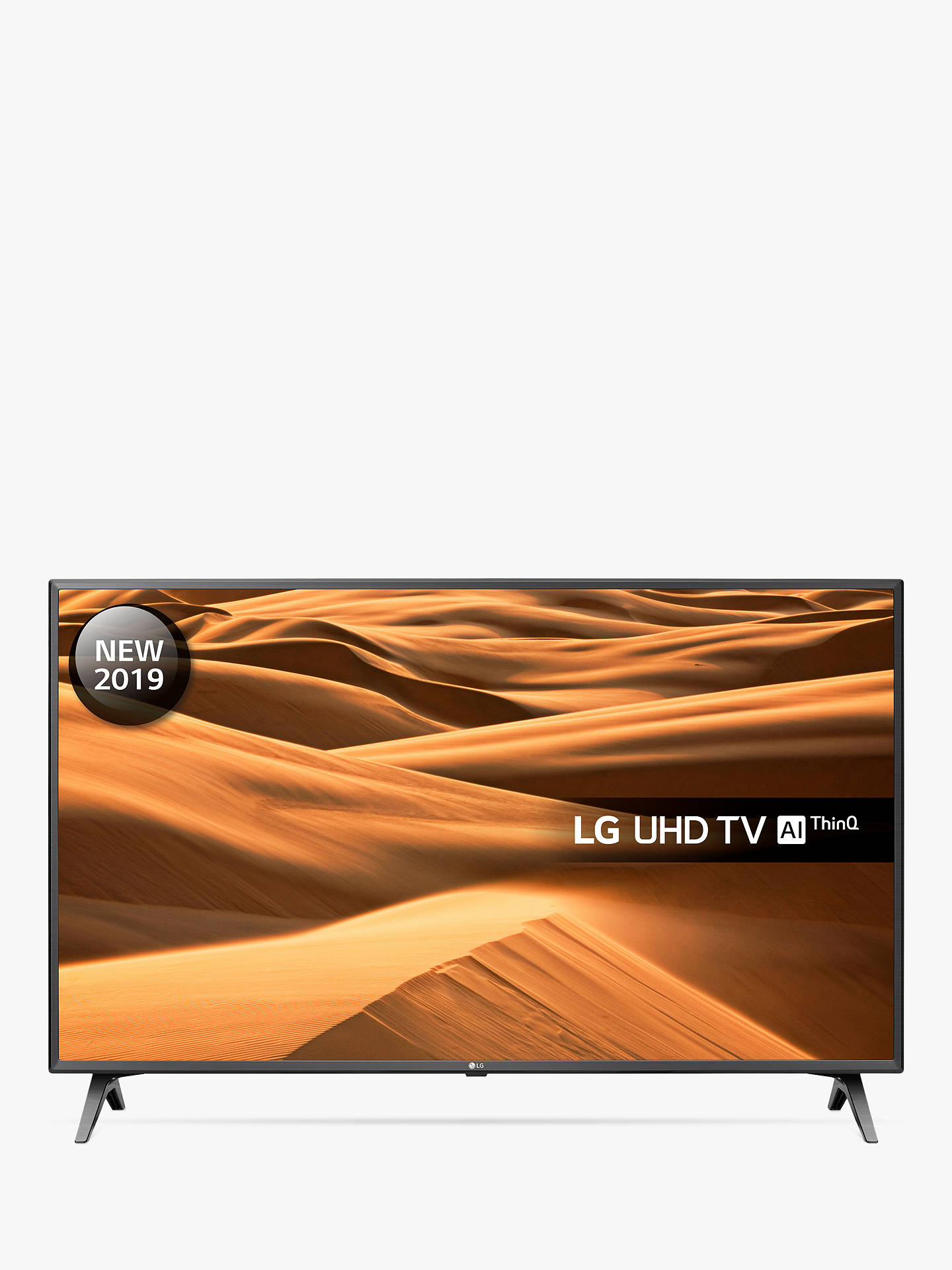 "Buy LG 43UM7500PLA (2019) LED HDR 4K Ultra HD Smart TV, 43"" with Freeview Play/Freesat HD, Ultra HD Certified, Black & Titan Online at johnlewis.com"