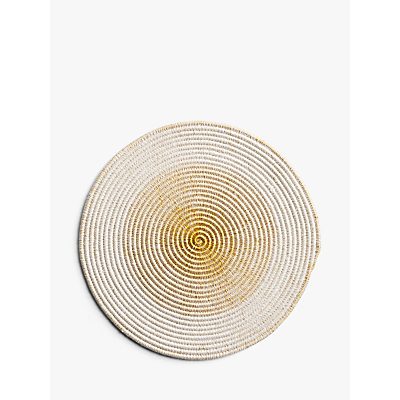 John Lewis & Partners Round Ombre Placemat, Ochre