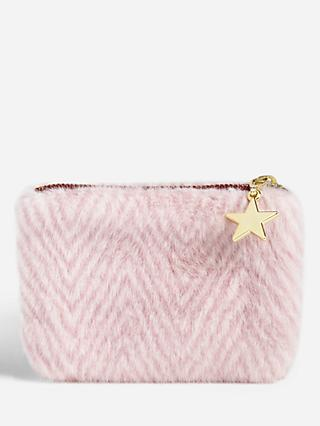 John Lewis & Partners Fur Stripe Purse
