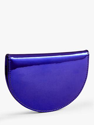 John Lewis & Partners Half Moon Metallic Purse