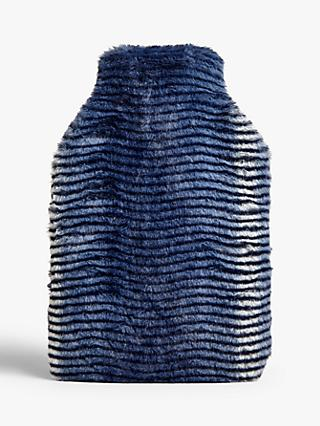 John Lewis & Partners Fur Stripe Hot Water Bottle