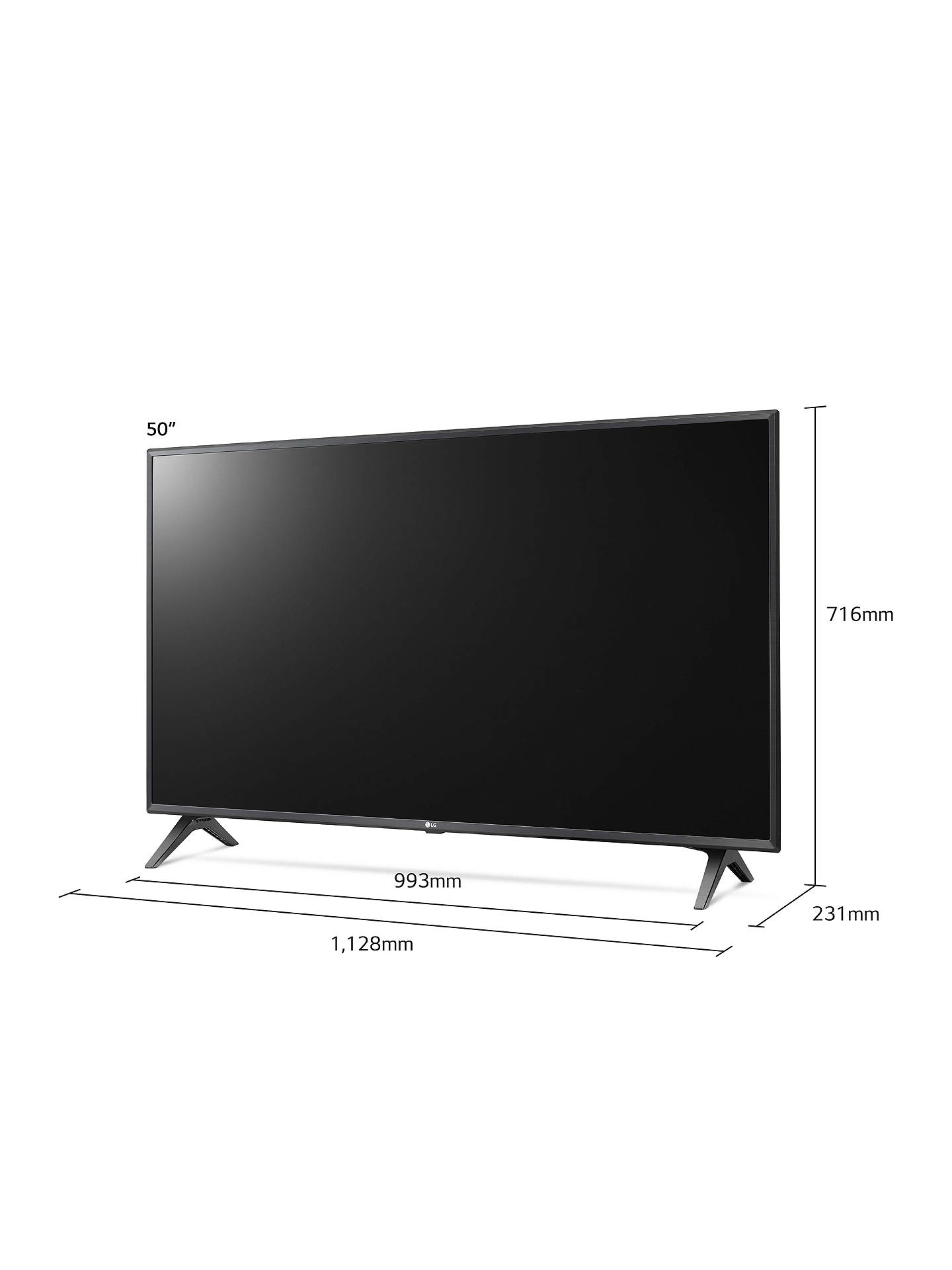 "Buy LG 50UM7500PLA (2019) LED HDR 4K Ultra HD Smart TV, 50"" with Freeview Play/Freesat HD, Ultra HD Certified, Black & Titan Online at johnlewis.com"