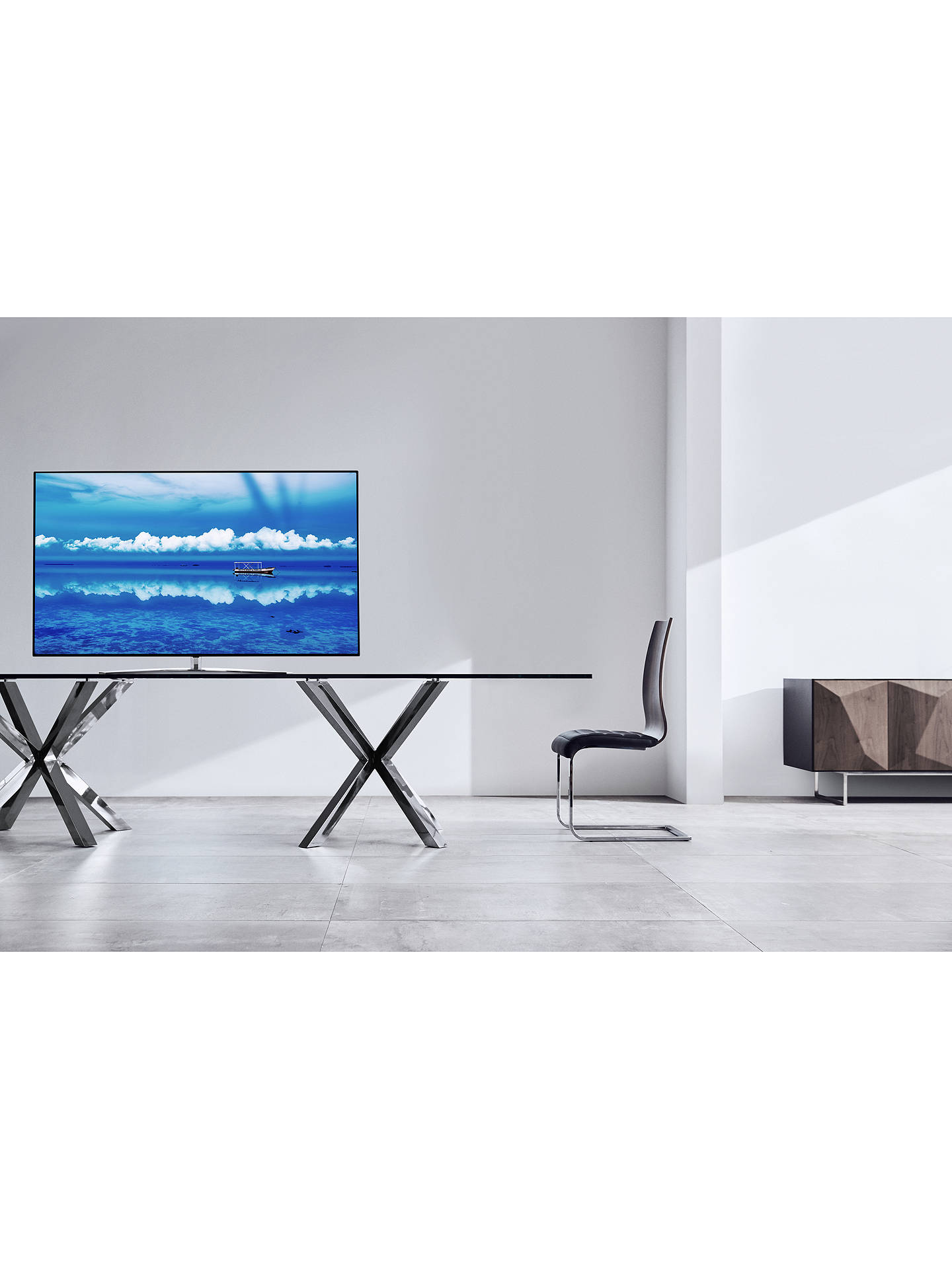 "Buy LG 55SM9800PLA (2019) LED HDR NanoCell 4K Ultra HD Smart TV, 55"" with Freeview Play/Freesat HD, Cinema Screen Design, Dolby Atmos & Crescent Stand, Ultra HD Certified, Black & Dark Silver Online at johnlewis.com"