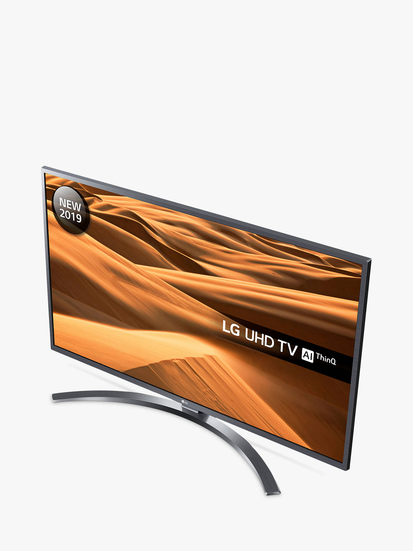 "Buy LG 55UM7400PLB (2019) LED HDR 4K Ultra HD Smart TV, 55"" with Freeview Play/Freesat HD, Ultra HD Certified, Dark Iron Grey Online at johnlewis.com"