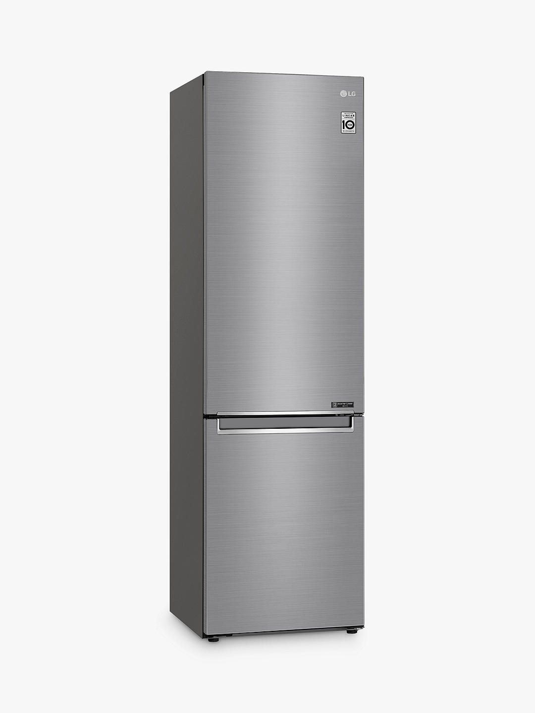 Buy LG GBB72PZEFN Freestanding 60/40 Fridge Freezer, 60cm Wide, A+++ Energy Rating, Shiny Steel Online at johnlewis.com