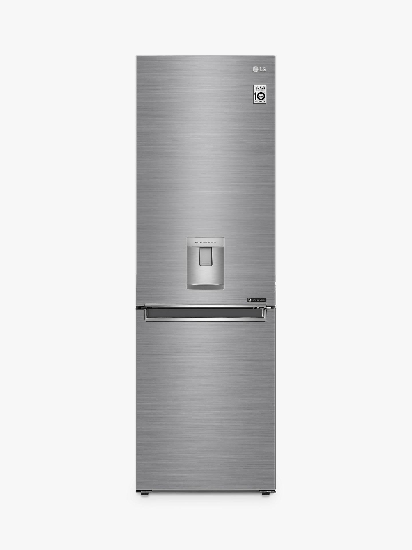 64b1dfc0 Buy LG GBF61PZJZN Fridge Freezer, A++ Energy Rating, 60cm Wide, Shiny Steel  Online ...