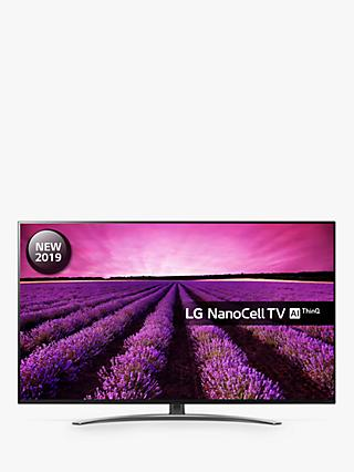 "LG 65SM8600PLA (2019) LED HDR NanoCell 4K Ultra HD Smart TV, 65"" with Freeview Play/Freesat HD, Cinema Screen Design, Dolby Atmos & Crescent Stand, Ultra HD Certified, Black & Dark Silver"