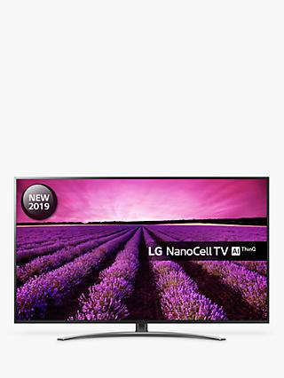 "LG 75SM8610PLA (2019) LED HDR NanoCell 4K Ultra HD Smart TV, 75"" with Freeview Play/Freesat HD, Cinema Screen Design, Dolby Atmos & Crescent Stand, Ultra HD Certified, Black & Dark Silver"