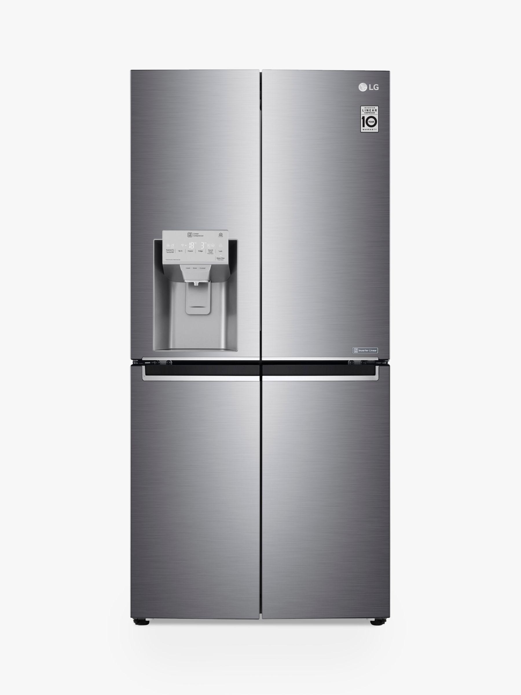 LG LG GML844PZKV American Style Fridge Freezer, A+ Energy Rating, 83.5cm Wide, Shiny Steel