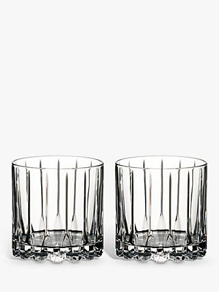 Riedel Bar Rocks Crystal Glass Tumblers, Set of 2, 283ml, Clear
