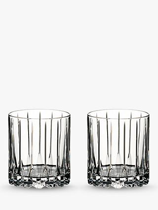 f633f5948555 Riedel Bar Neat Cut Crystal Glass Tumblers