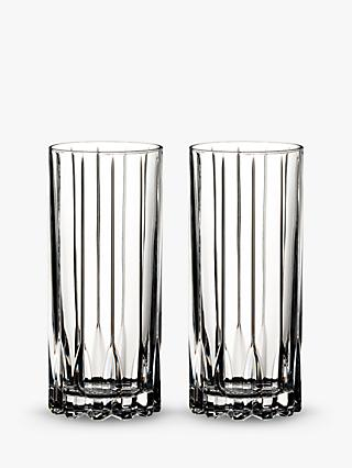Riedel Bar Crystal Glass Highballs, Set of 2, 310ml, Clear