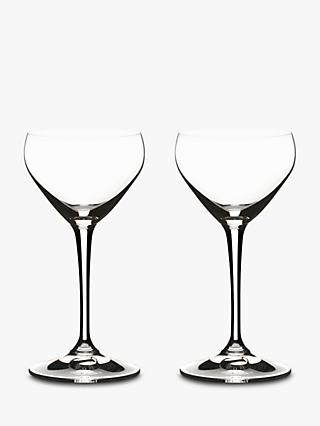 Riedel Bar Crystal Glass Nick & Nora Cocktail Glasses, Set of 2, 140ml