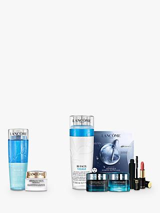 Lancôme Bi-Facil Non Oily Instant Cleanser Sensitive Eyes and Absolue Yeux Premium ßx Eye Cream Bundle with Gift